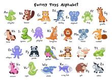 Funny Animals Alphabet. Cute C...