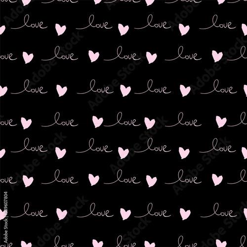 romantyczny-wzor-z-recznie-napisane-slowa-milosc-i-atrament-serca-na-rozowo-szczesliwego-walentynka-dnia-pojecia-wektorowego