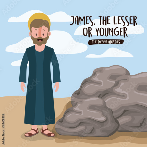 Fotomural the twelve apostles poster with james the lesser in scene in desert next to the