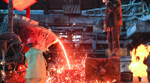 Fotografía foundry metal smelting plant