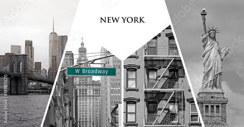 Postcard of New York city, USA