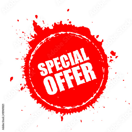 Fotografía  Special offer blot splash icon