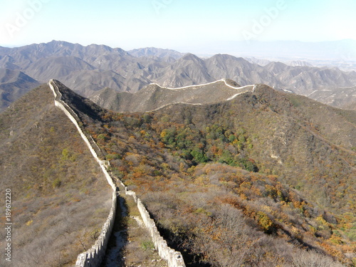 Papiers peints Muraille de Chine Unrestored section of Great Wall of China