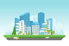 City Vector Illustration. Smal...