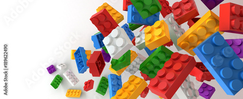 Obraz Plastic building blocks - fototapety do salonu