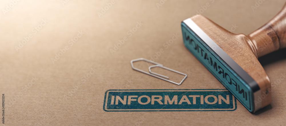 Fototapeta Business Information