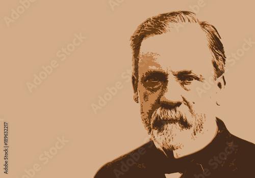Fotografie, Obraz  Pasteur - médecine - portrait - Louis Pasteur - personnage historique - scientif