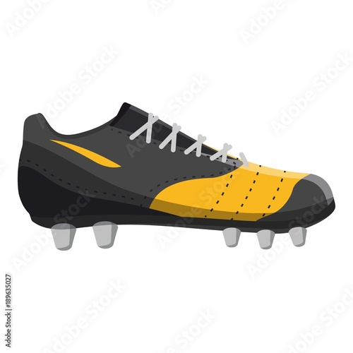 Canvastavla Red and yellow football or soccer shoe icon