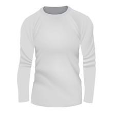 White Tshirt Long Sleeve Mocku...