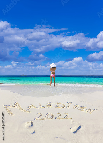 Malediven Strandtext 2022 Poster