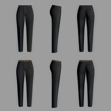 Vector Realistic Black Trouser...
