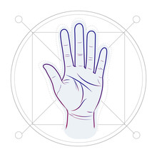 Divination By Lines On A Hand. Palm Reading Or Palmistry