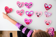 Person Making Heart Shaped Faces For Valentines Day.
