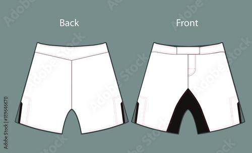 Obraz template for design shorts MMA - fototapety do salonu