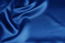 Blue Satin, Silk, Texture Back...