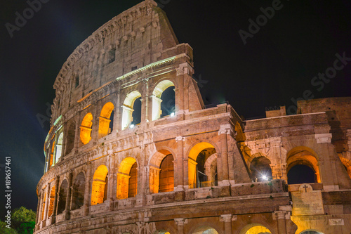Colloseum nocą, Rzym Canvas Print