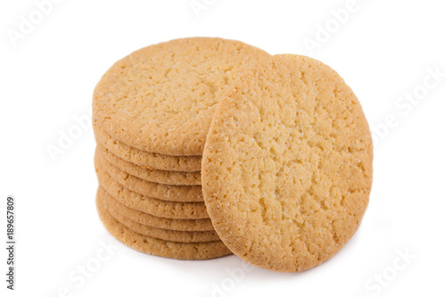Foto op Plexiglas Koekjes oatmeal cookies isolated on white background
