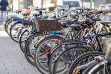 Many Bicycles On The Street