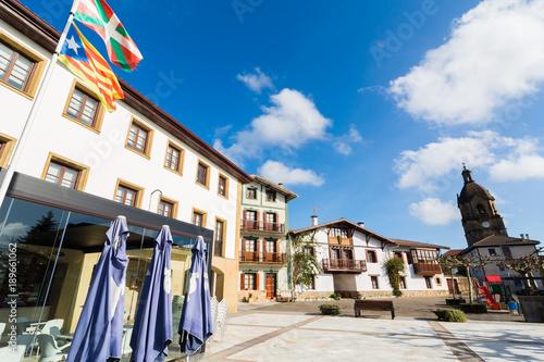 The Basque town of Arrieta, Spain