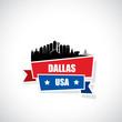 Dallas ribbon banner