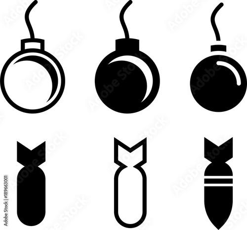 Valokuva  Bomb Icon Collection, Explosive Device