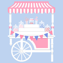 Candy Cart Vector Illustration