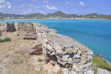 Canons In Fort Amsterdam In St. Maarten