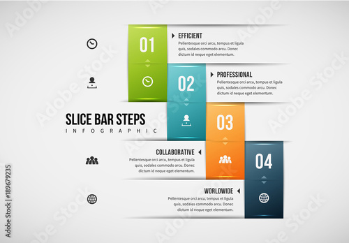 Stair Step Bar Infographic  Buy this stock template and explore