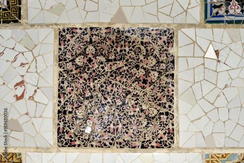 Fototapeta Park Guell Barcelona, Spain - Gaudi mosaic. obraz