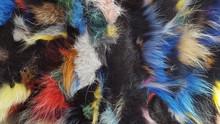 Multi Colors Fur Texture Backg...