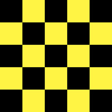 Black And Yellow Checkered Background