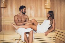 Beautiful Couple Relaxing In S...