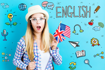 Study English theme with yo...