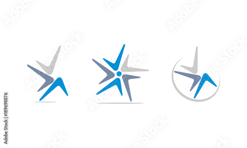 Photo Boomerang Vector Template Set