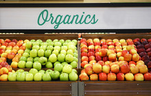 Close Up On Organic Apples In ...