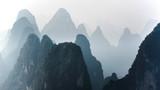 Piękny góra krajobraz w Yangshuo Guilin, Chiny. - 189706056