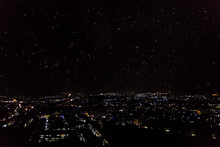 City Scape View With Shining Star From The Top Of Mountain In Phuket
