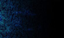 Blue Binary Background. Modern Network Algorithm Illustration