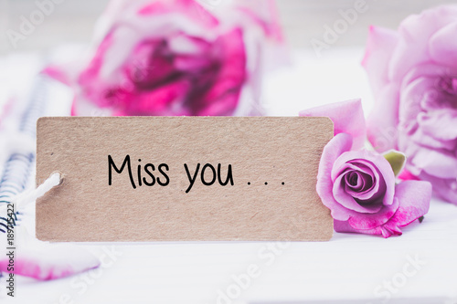 Recess Fitting Orchid Writing miss you on card