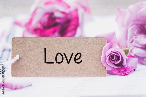 Recess Fitting Orchid Writing love on card