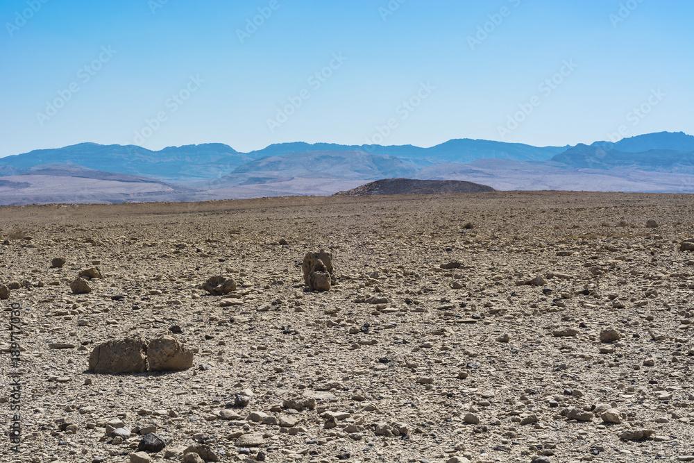 Rocky hills of Desert in Israel.