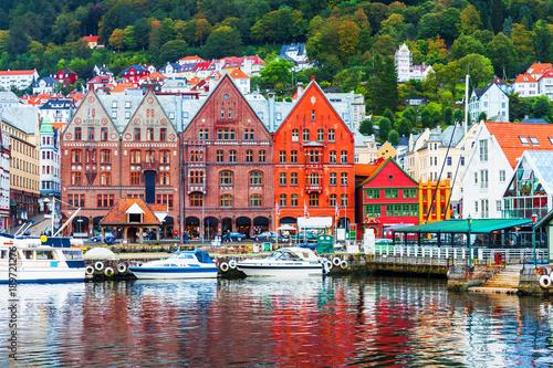 Poster Scandinavie Scenery of Bergen, Norway