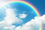 Fototapeta Rainbow - Rainbow in Blue sky