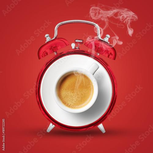 sveglia al caffè Canvas Print