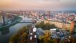 Krajobraz miasto opole z drona