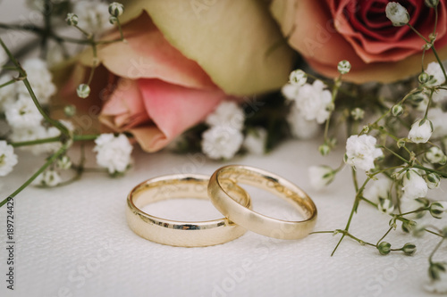Foto wedding rings macro close up
