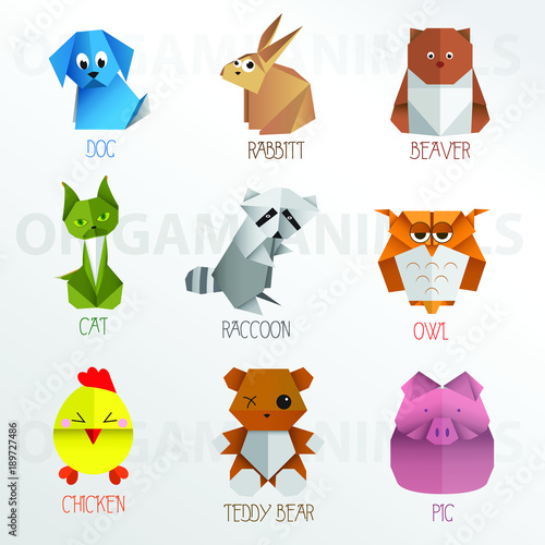Origami Vector Animals Collection