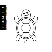 Turtle - Coloring Book. Colori...