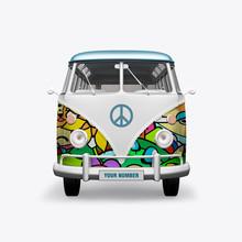 3D Render Hippie Bus On White ...