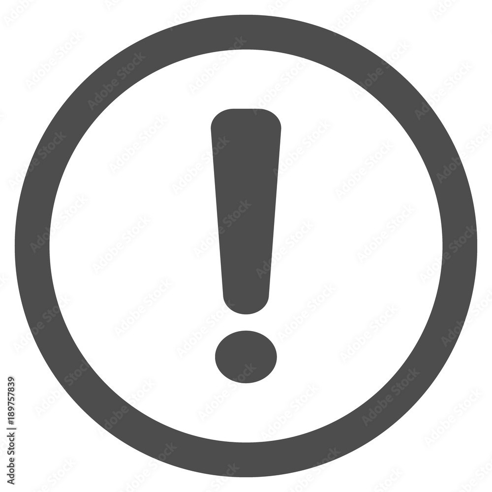 Fototapety, obrazy: Exclamation mark (point) in circle. Vector icon.
